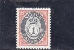 sellos de Europa - Noruega -  CORONA Y CORNETA