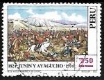 Stamps : America : Peru :  Batallas de Junin y Ayacucho