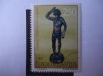 Stamps Yugoslavia -  Estatua de Bronce. (A. Milenkovic)