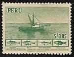 Sellos de America - Perú -  Barco de pesca
