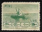 Stamps Peru -  Barco de pesca