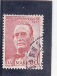 Sellos de Europa - Dinamarca -  HANS CHRISTIAN SONNE-MINISTRO