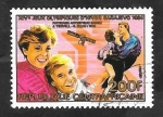 Stamps : Africa : Central_African_Republic :  653 H - Juegos Olímpicos de invierno en Sarajevo