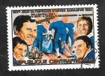 Stamps : Africa : Central_African_Republic :  653 F - Juegos Olímpicos de invierno en Sarajevo