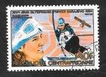Stamps : Africa : Central_African_Republic :  653 G -Juegos Olímpicos de invierno en Sarajevo