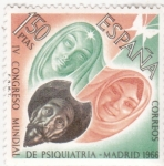 Stamps : Europe : Spain :  IV CONGRESO DE PSIQUIATRIA (30)