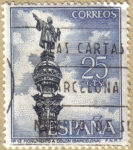 Stamps of the world : Spain :  Monumento a Colon en Barcelona