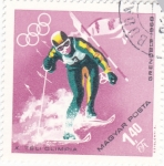 Stamps Hungary -  OLIMPIADA DE GRENOBLE´68