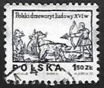 Stamps Poland -  Cazador con arco y flecha