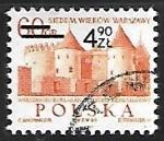 Stamps Poland -  Barbican, Githic-Renaissance castle