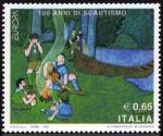 Stamps Italy -  COL-100 ANNIS DI SCAUTISMO