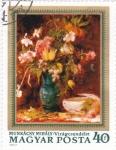 Stamps Hungary -  PINTURA-FLORES