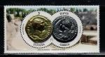 Stamps : Europe : Spain :  Numismática, Aúereo de Adriano, Denario de Trajano