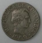 monedas de America - Colombia -  1969 -10 centavos