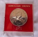monedas del Mundo : Europa : Gibraltar :  25 New Pence - Elizabeth II D•G•REGINA  Gibraltar 1971