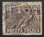 sello : Europa : Polonia :  Maquinaria pesada