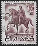 Stamps Poland -  Estatua de Prince Jozef Poniatowski