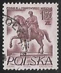 Sellos de Europa - Polonia -  Estatua de Prince Jozef Poniatowski
