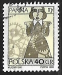 Stamps : Europe : Poland :  Signo del zodiaco - virgo