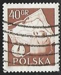 Stamps : Europe : Poland :  Mapa de Polonia