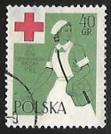 Sellos del Mundo : Europa : Polonia : Enfermera de Cruz Roja