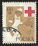 Stamps : Europe : Poland :  Enfermera de la Cruz Roja