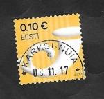 de Europa - Estonia -  Corneta Postal