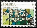 Sellos de Europa - Polonia -  Vidriera