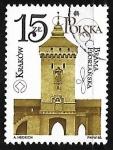Sellos de Europa - Polonia -  Puerta de Florianska