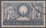 Stamps : Africa : South_Africa :  EXCURSIONISTAS  MIRANDO  HACIA  NATAL  CON  LA  BIBLIA  ABIERTA