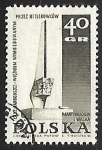 Stamps : Europe : Poland :  Monumento en Lodz