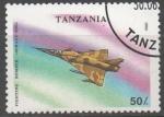 Stamps : Africa : Tanzania :  MIRAGE  3 NG  BOMBARDERO