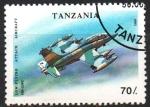 Stamps : Africa : Tanzania :  MB - 339 C  AVION  DE  COMBATE