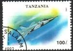 Stamps : Africa : Tanzania :  MIG - 31  AVION  CAZA
