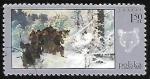Stamps Poland -  Caza - pintura
