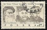 Stamps : Europe : Poland :  Andrzej Frycz-Modrzewski, Stefan Batory, Jan Zamoyski