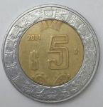 monedas de America - México -  2011 - 5 pesos