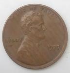 monedas de America - Estados Unidos -  1977 error one cent