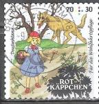 """Stamps of the world : Germany :  """"Para el bienestar""""Cuentos de hadas,Caperucita Roja."""