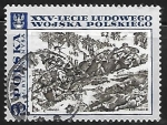 Stamps Poland -  Battle on the Neisse, by M. Bylina