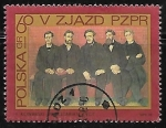 "Stamps : Europe : Poland :  ""Party Members"", by F.Kowarski"