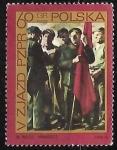 "Stamps : Europe : Poland :  ""Manifest"", by Wojciech Weiss"