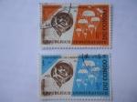 Sellos del Mundo : Africa : República_Democrática_del_Congo : Aniversario de la Independencia 30 de Junio de 1965.