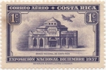 Stamps Costa Rica -  Aereo Y & T Nº 30   Expo