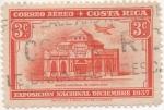Sellos de America - Costa Rica -  Aereo Y & T Nº 31   Expo