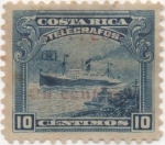 Sellos de America - Costa Rica -  Telegrafo Y & T Nº 14