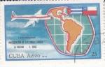 Sellos del Mundo : America : Cuba : 1 ANIVERSARIO LINEAS AEREAS LAHABANA- S.CHILE
