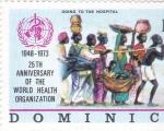 Sellos del Mundo : America : Dominica : ONU- YENDO AL HOSPITAL