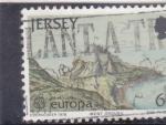 Sellos del Mundo : Europa : Reino_Unido :  PANORAMICA DE JERSEY CEPT