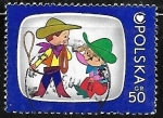 Stamps : Europe : Poland :  Bolek and Lolek - programa de television infantil